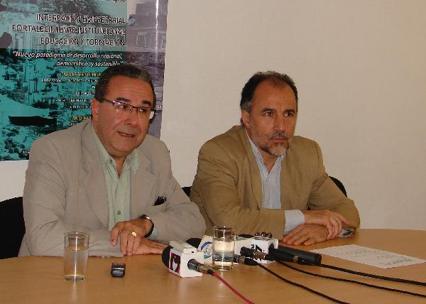 Carlos Galián y Javier Gortari, en el anuncio del encuentro internacional.