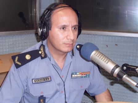 Responsable del centro integral de operaciones del servicio 911, comisario inspector Roberto Salinas