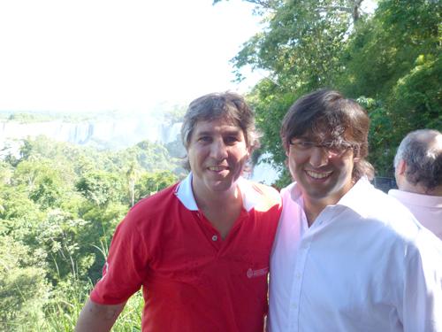 Créditos. Boudou y Bossio se maravillaron con las Cataratas del Iguazú.
