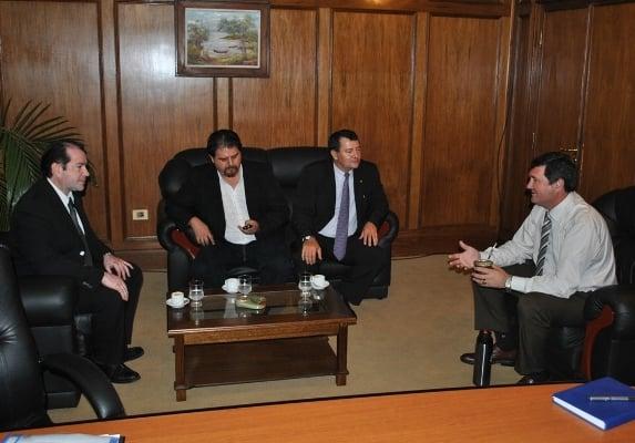 De izquierda a derecha,  Fabián Altamirano, Gustavo Varisko, Jorge Antonio Morínigo y Jorge Munaretto.