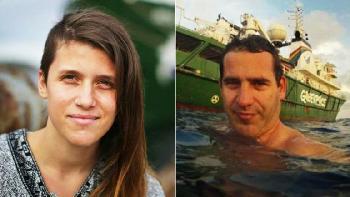 Los argentinos Camila Speziale y Hernán Pérez Orsi, presos en Rusia.