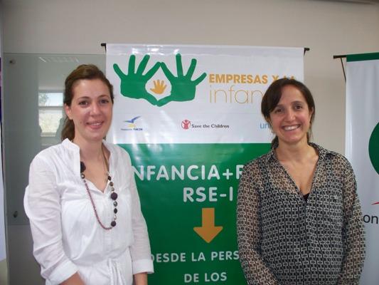 María Julia Yanzi y Mariana Larumbe, de Empresas por la Infancia.