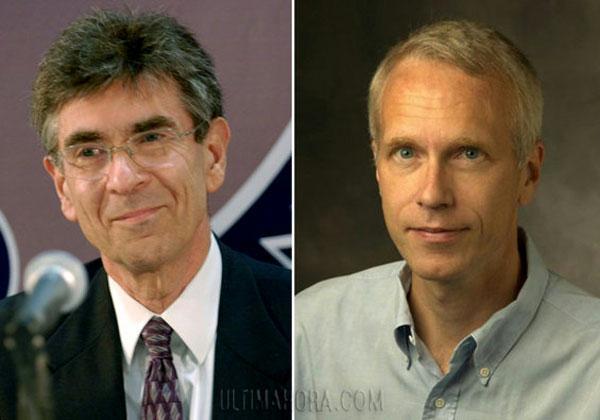 Los científicos galardondos, Robert J. Lefkowitz y Brian K. Kobilka.