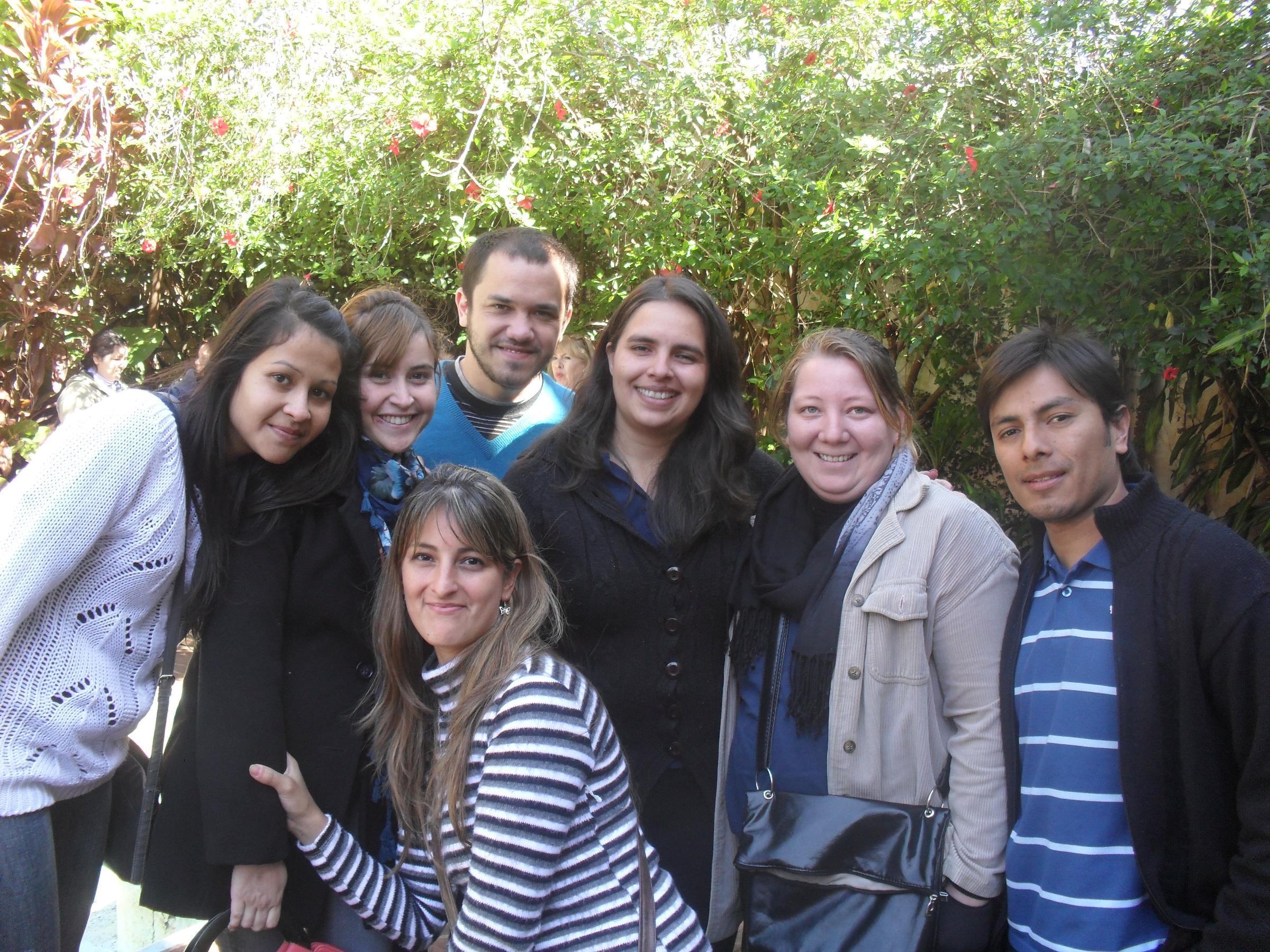 Parte de los integrantes de Nuevo Horizonte, en el curso de Grupo Solidario.