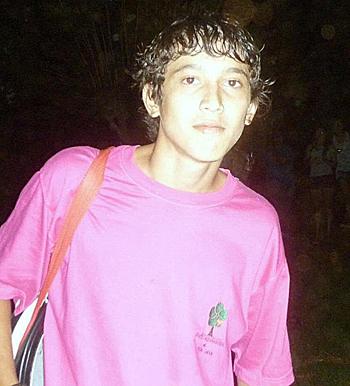 Una de las últimas fotos de Sebastián Vera (16), antes de su muerte.