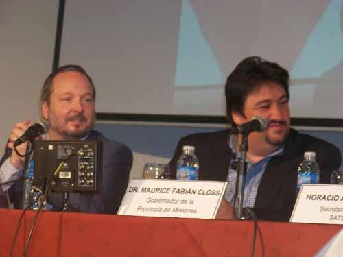 Diversidad. Sabbatella y Closs defendieron la aplicación de la ley de Medios.