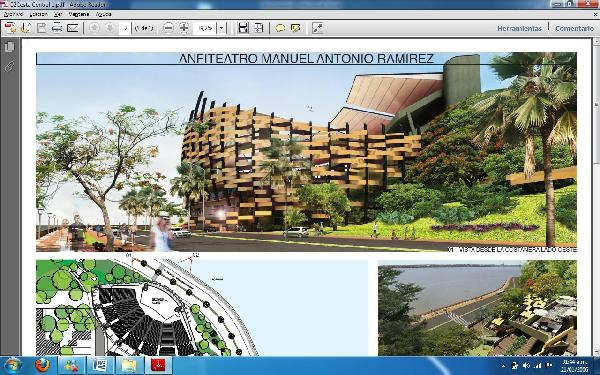 Proyecto ganador del concurso para revalorizar el Anfiteatro de Posadas.