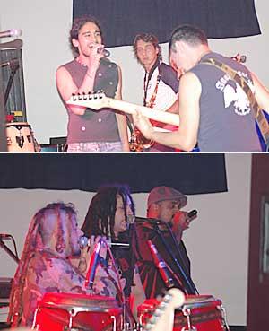 """A pleno. Karamelo se presentó en Posadas, donde interpretó temas de su último album """"Haciendo bulla""""."""