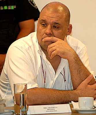 El pai umbanda Hugo Odilón Ledesma, en cuyo templo ocurrió el crimen.