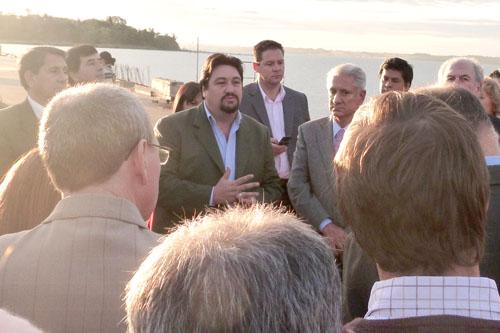 El gobernador recorrió las instalaciones del futuro Parque Industrial de Posadas.