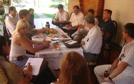 El encuentro de seguridad vial realizado en Puerto Rico el 17 de marzo.
