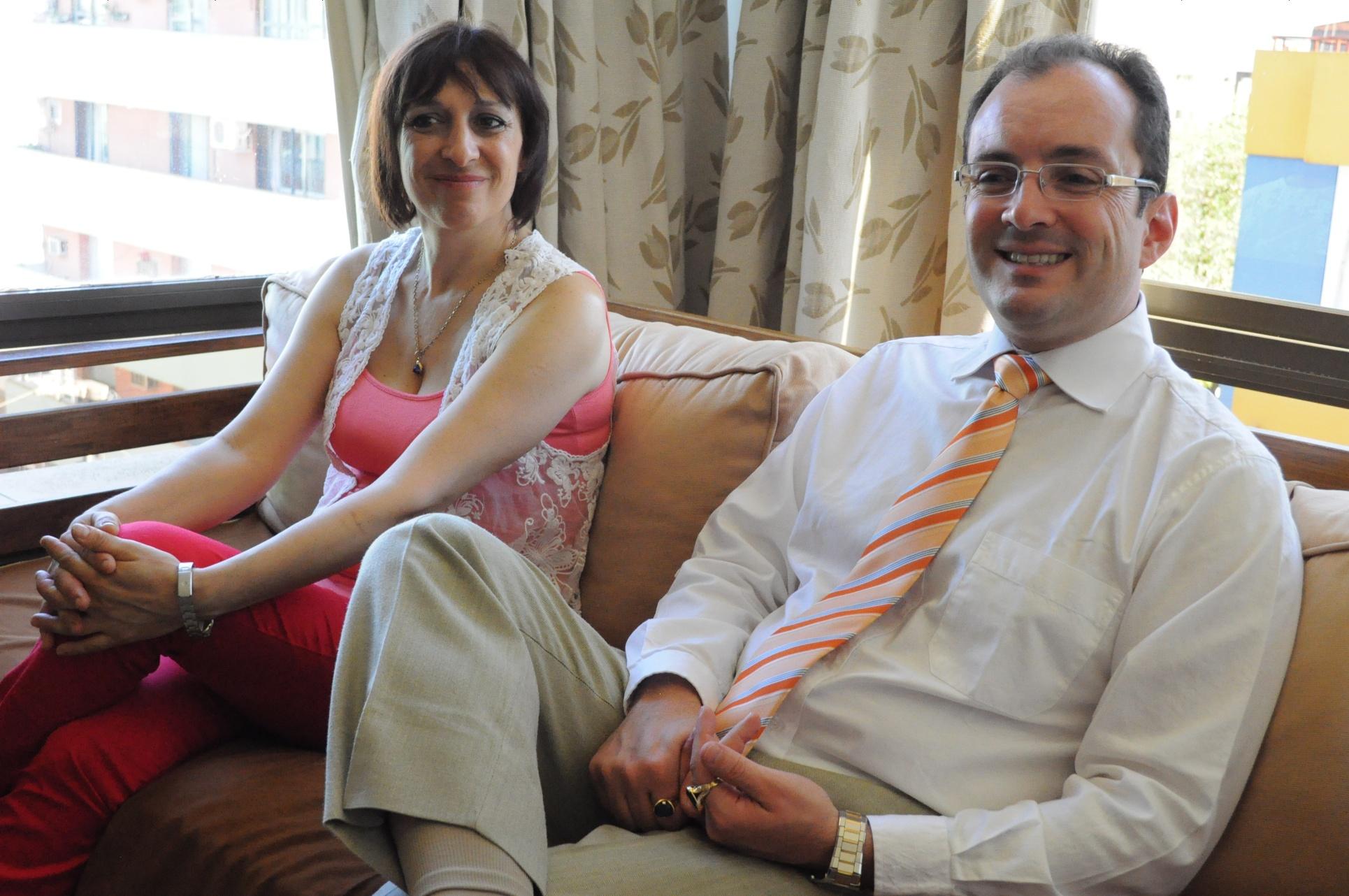 Liliana Caputo y Fernando Candiotto, de la Escuela de Metafísica de Buenos Aires.