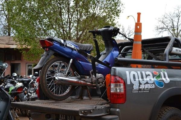 Hay 500 motos secuestradas y la van a subastar próximamente.