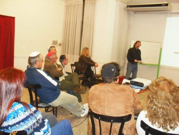Charla sobre la Torá en la sede de la comunidad Israelita en Posadas.