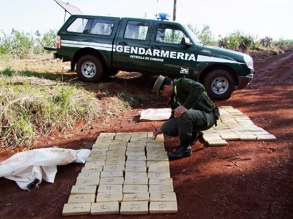 En Hipólito Yrigoyen fueron 103 kilos secuestrados.