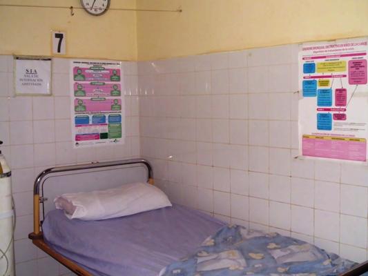 Sala de internación abreviada para casos bronquiales en 2 de Mayo.