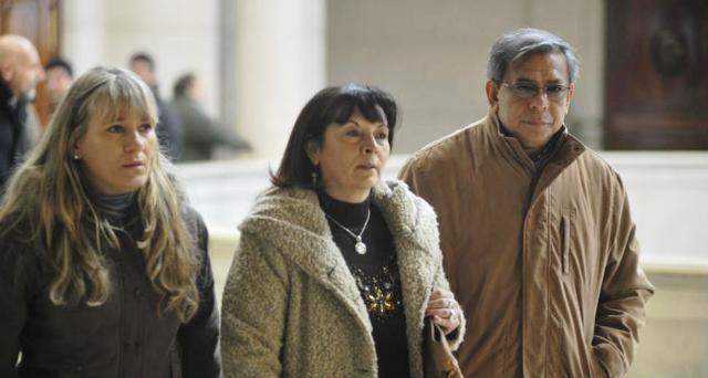 Silvia Risko, Susana Trimarco y Ricardo Escobar hoy al salir del juicio. FOTO: Gentileza diario LaGaceta.com