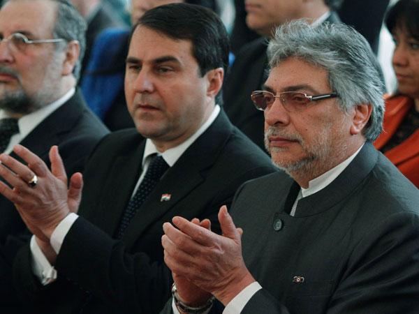 Lugo y Franco, tiempo antes del juicio político Crédito foto: Reuters.