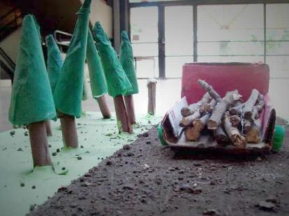 Maqueta del proyecto ambiental de los estudiantes porteños.