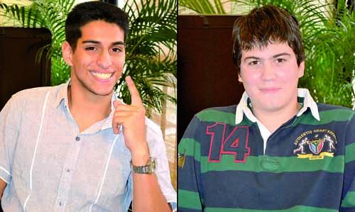 Andrés González y Franco Zacarías, los dos finalistas de Abrecaminos.