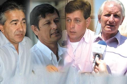 Candidatos. Velázquez, Ríos, Wipplinger y Tschirsch ratificaron sus aspiraciones.