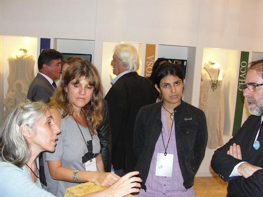 Laura Andino e Ivana Roth  con el secretario de Cultura de la Nación, Jorge Cossia.