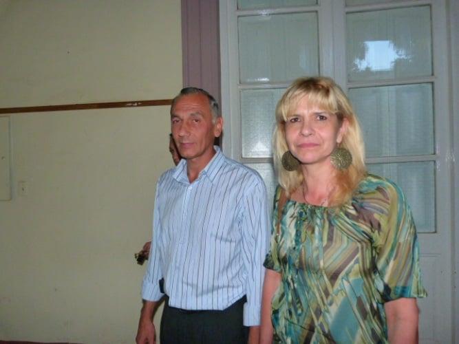 La alcaide general, Nilda Estela Correa, acompañada del nuevo titular del SPP, Miguel Maidana.