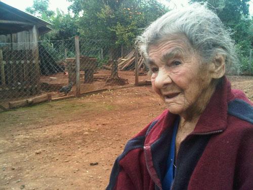 Historia viva. Josefa tiene más de cien años y vive junto a una de sus hijas.
