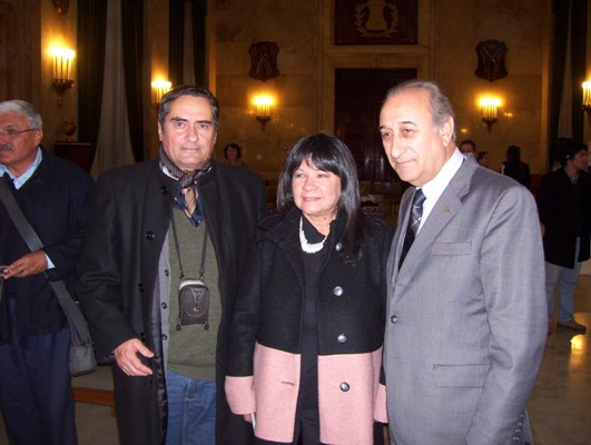 Ministro Arturo Puricelli, diputada Julia Perie  Juan Manuel Sureda, de Flor del Desierto.