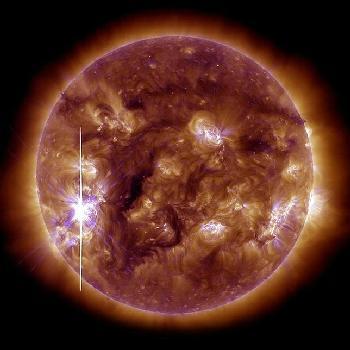 Llamarada solar del 5 de noviembre, de clase X, entre las más potentes.