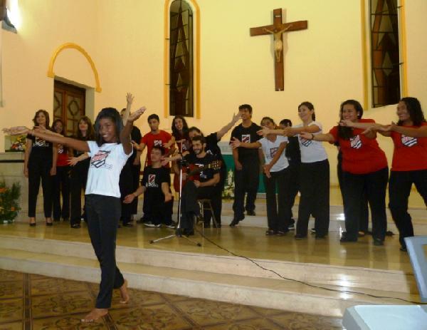 Coro de Porto Alegre anoche en la Catedral, hoy estará en Oberá.