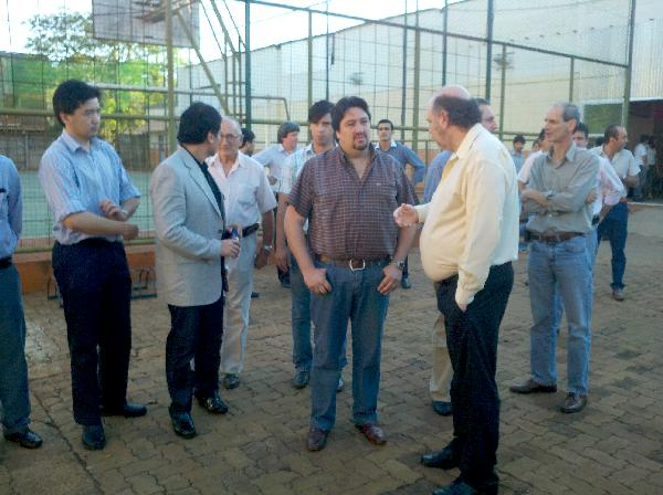 La recorrida en el Campus de la Universidad privada, al oeste de Posadas.