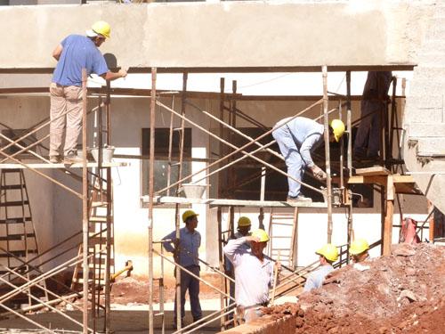 Empleo. La construcción es uno de los sectores que más trabajo genera.
