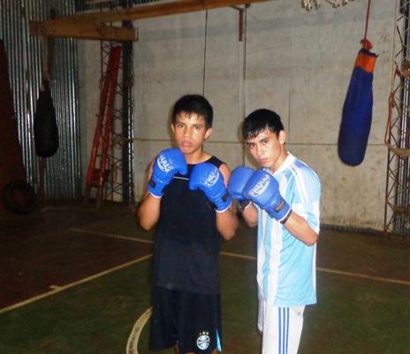 Yonatan Galeano (izquierda) y Matías Colman.