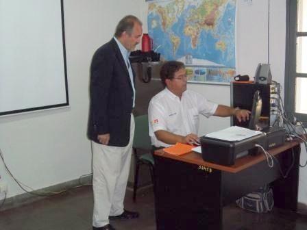 Coordinador de los Cascos Blancos durante su visita a la Opad en Posadas.
