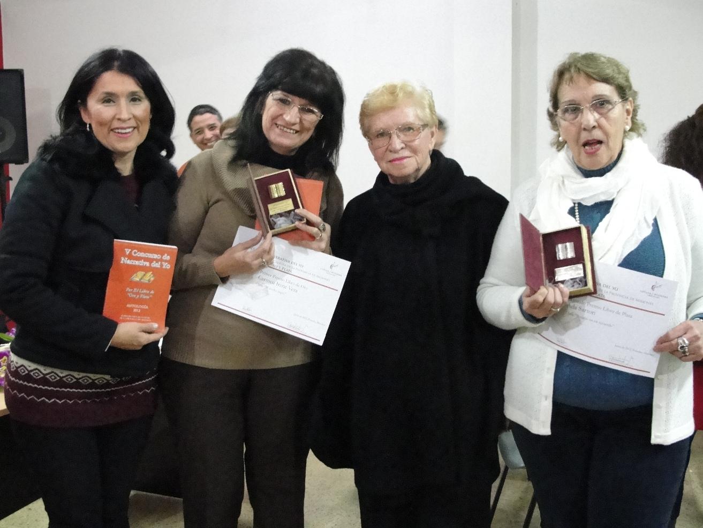 Griselda Martínez y las escritoras Carmen Vera , Aurora Bitón y Estela Sartori.
