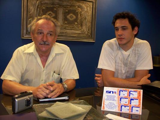 Gerente de SNM, Rafael Balanda y el ingeniero Germán Byczko