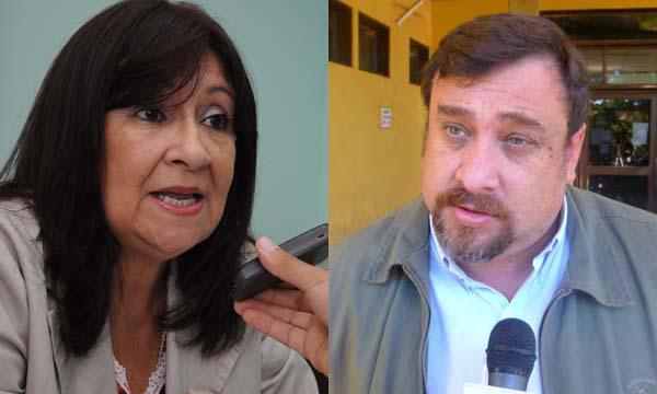 Graciela Brítez de Roa y Hugo Irala, directores electos por la rama pasiva y activa respectivamente.