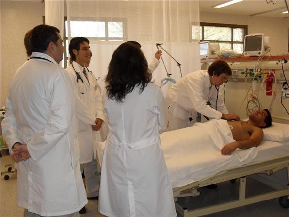 La unidad coronaria del Hospital Escuela de Agudos.