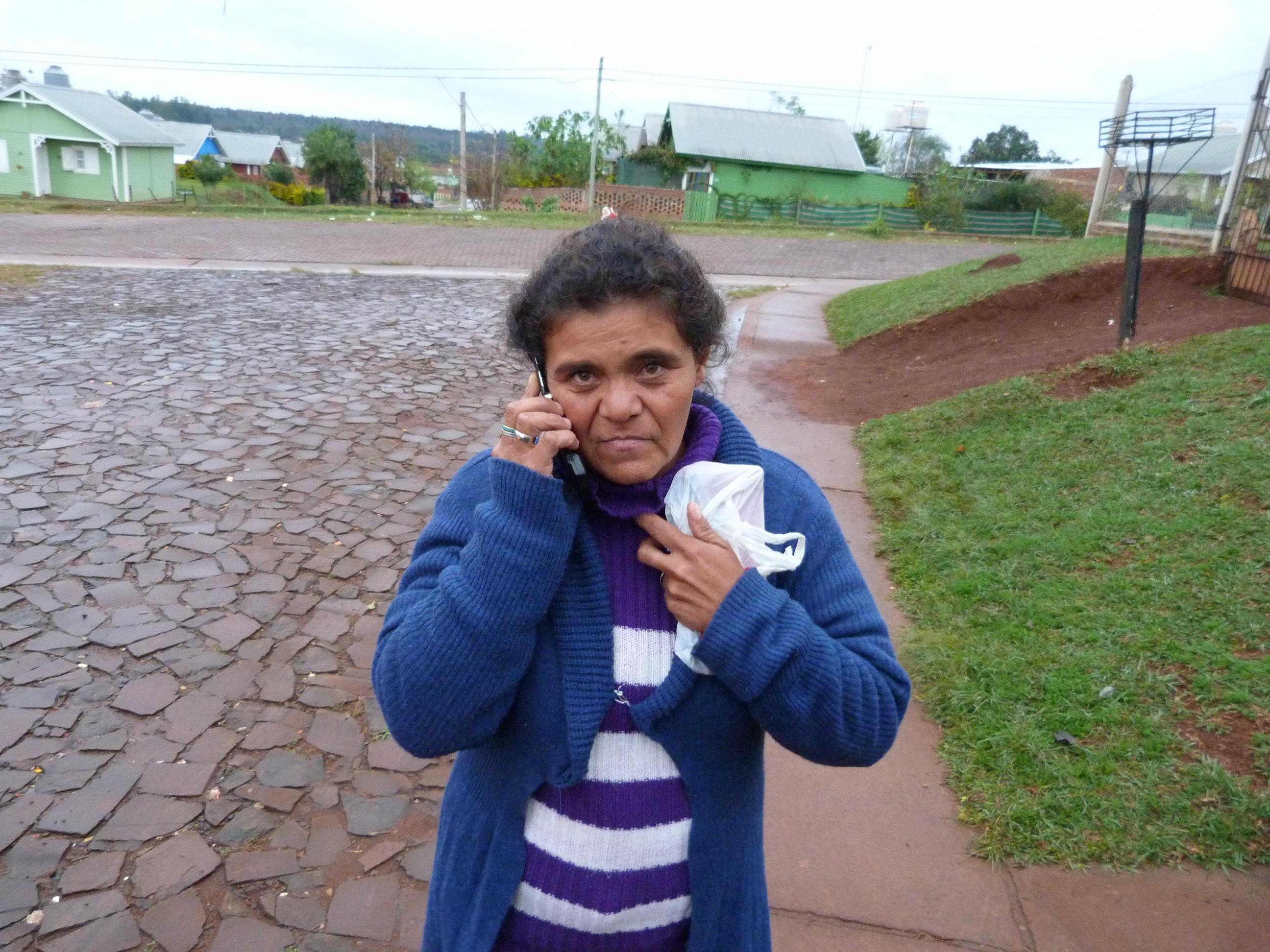 Mirta Machado, madre de la chica que dio su beba.