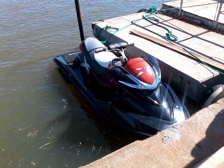 Esta es la moto náutica en la que se trasladaba Manfredi