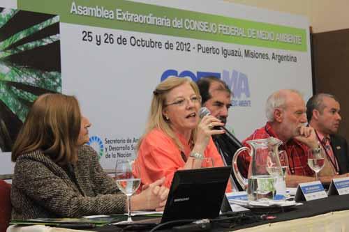 La ministra Viviana Rovira fue la anfitriona del Cofema en Puerto Iguazú.