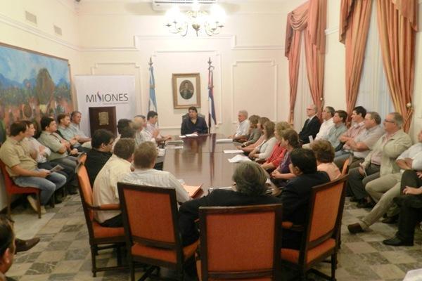 Empresarios misioneros visitaron al Gobernador.