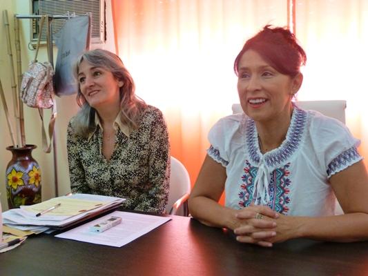 La coordinadora, Laura Camelli y la subsecretaria de Cultura, Griselda Martínez.