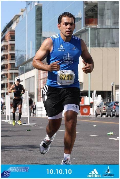 Mayuli en la maratón de Buenos Aires