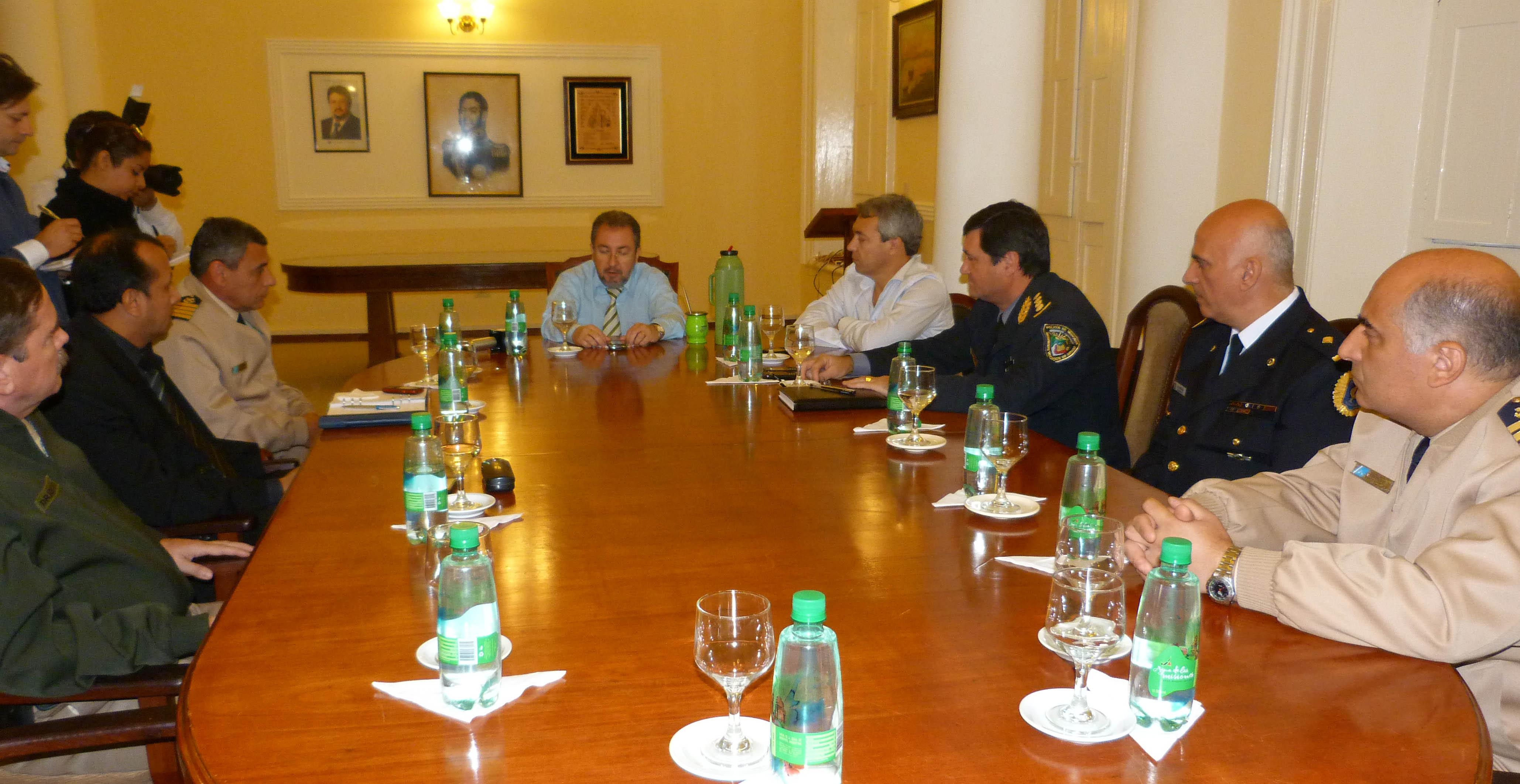 Coordinación. En el encuentro encabezado por Franco se fijó la agenda anual.
