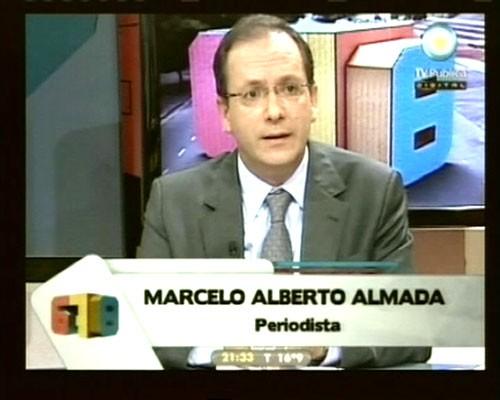 6,7,8. Marcelo Almada expuso anoche la denuncia de censura en la TV pública.