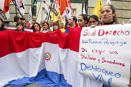 Repudio. En distintos países de la región repudiaron la destitución de Lugo.