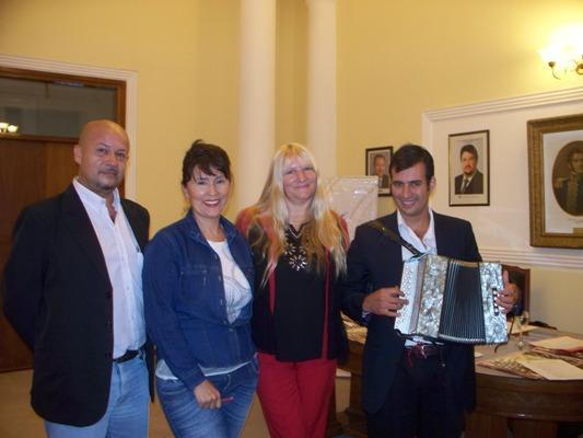 Cultura presentó el festival de la Verdulera en casa de Gobierno.