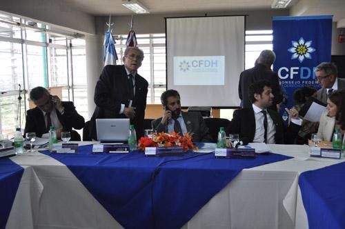 Debate. Soria Vieta y Fresneda encabezan la reunión federal de Derechos Humanos.